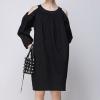 Caara Black Cold Shoulder Dress