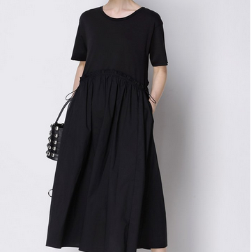 Caara Tie Black Dress