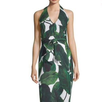 Milly Leaf Print Dress