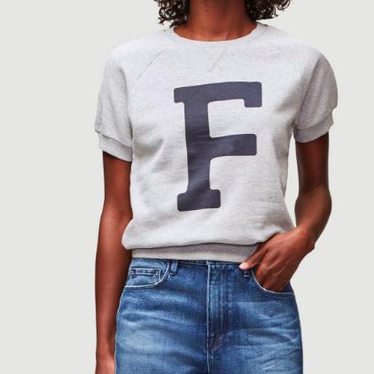 Short Sleeve Varsity Sweatshirt