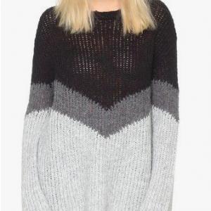 Autumn Cashmere Tricolor Shake Sweater