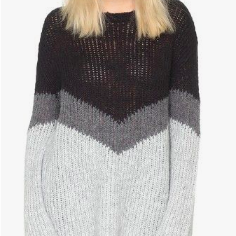 Autumn Cashmere Tricolor Shake Sweater