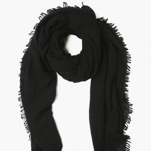 CHAN LUU Black Cashmere Scarf