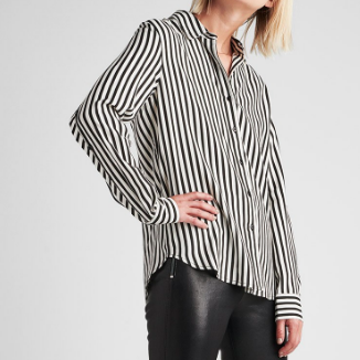 Striped Hudson Button Sleeve Shirt
