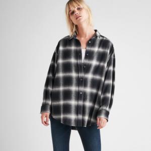 Button Up Shirt Flannel Print