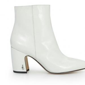 Hilty Ankle Boot White Patent