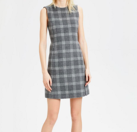 Plaid Vented Front Dress Theory