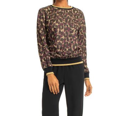 Trina Turk Marita Leopard Top