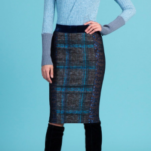 BYRON LARS WINDOWPANE PLAID PENCIL SKIRT