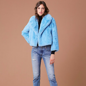 FAUX FUR JACKET DVF