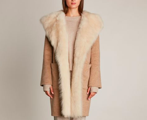 HOTEL PARTICULIER LONG COAT IN BROADCLOTH AND SHEARLING