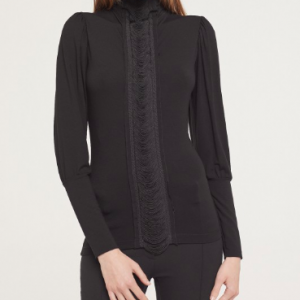 HIGH NECK FRINGES TOP ISABEL DE PEDRO