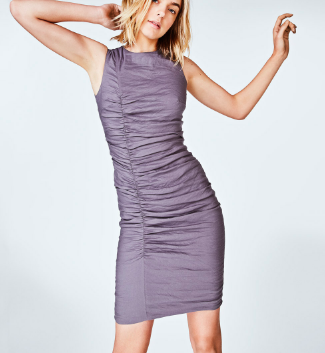 COTTON METAL TUCK DRESS NICOLE MILLER