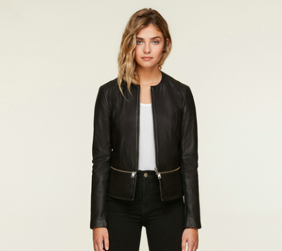SOIA & KYO HEIDI LEATHER CROPPED