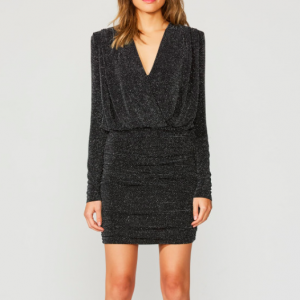 BAILEY 44 NIGHT FEVER SPARKLE BLACK JERSEY DRESS