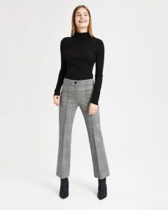 Theory plaid cardinal trouser