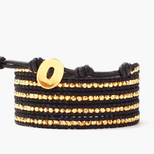 GOLD AND BLACK WRAP CHAN LUU