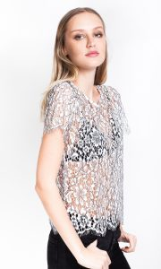 LACE T-SHIRT BLOUSE GENERATION LOVE