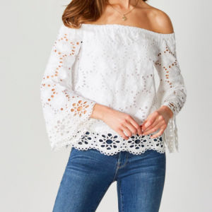 BAILEY 44 OFF SHOULDER EYELET