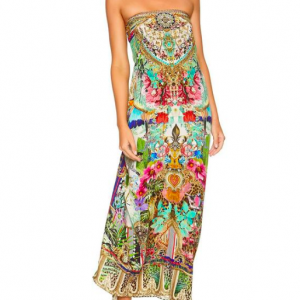 CAMILLA MAXI DRESS CHAMPAGNE COAST
