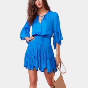 Blue Flowy Dress Halston
