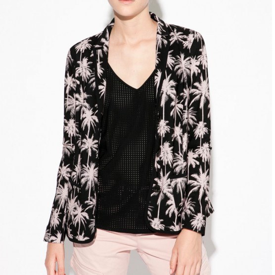 INDIES PALM PRINT BLAZER