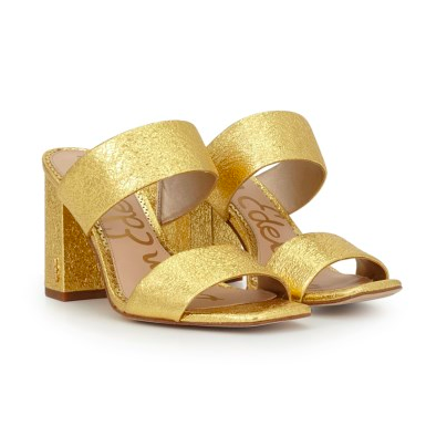 GOLD MULE SANDAL