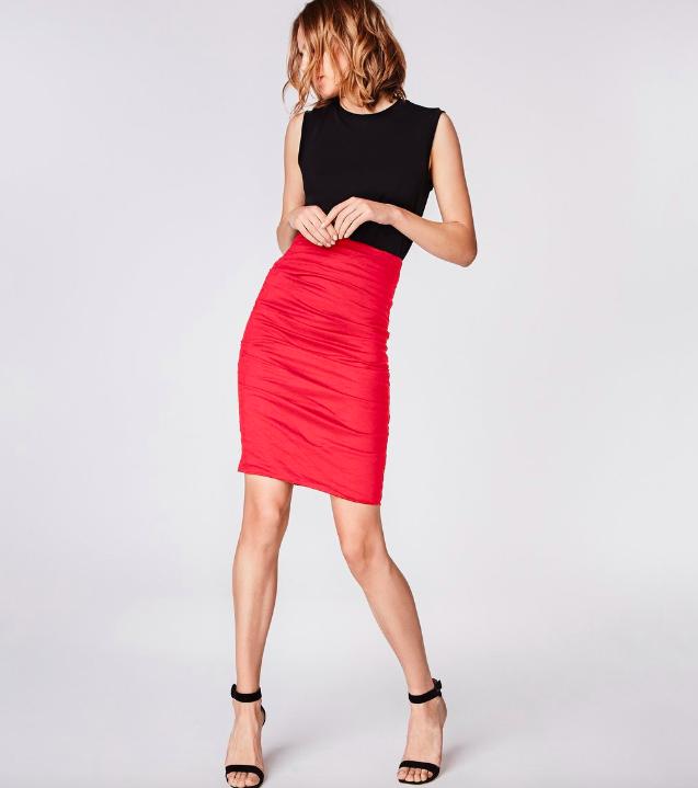 Sandy Cotton Metal Skirt