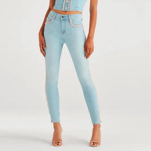 Fringe Light Wash Denim
