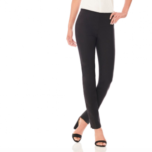 ECRU SLIM LEG BLACK WORK PANT