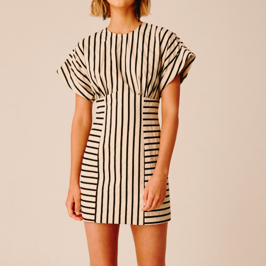 C/MEO COLLECTIVE STRIPE DRESS