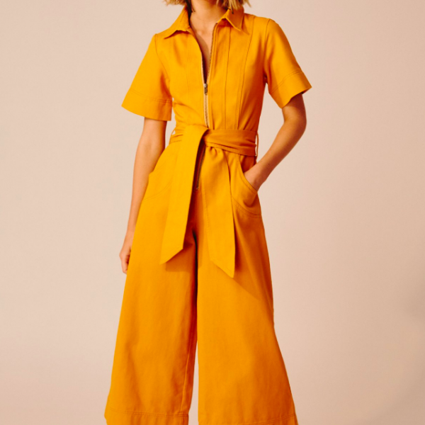 C/MEO COLLECTIVE MUSTARD JUMPSUIT