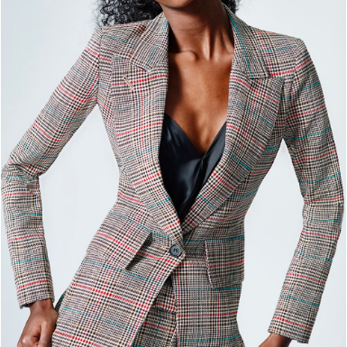 SMYTHE PLAID BLAZER