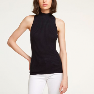 RIBBED MOCK NECK