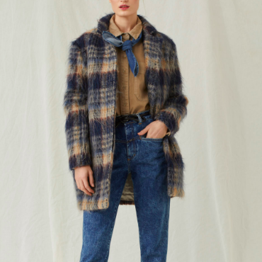 PLAID COAT CLOSED
