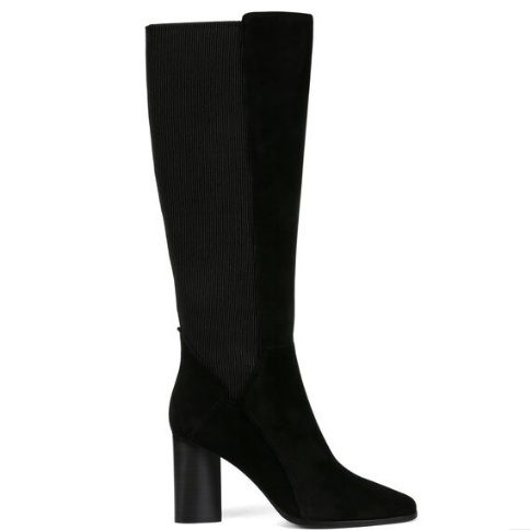 TALL BLACK SUEDE BOOT DONALD PLINER