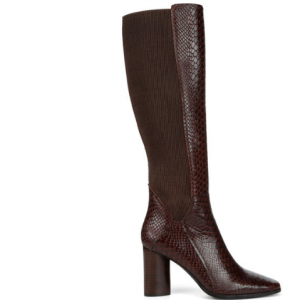 TALL BROWN PYTON BOOT DONALD PLINER