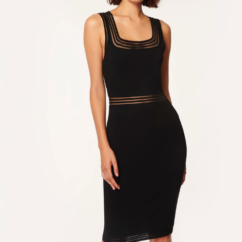 MILLY BLACK FITTED DRESS