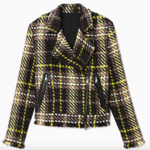 PLAID JACKET MOTO STYLE