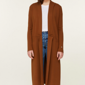 RUST LONG CARDIGAN