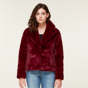 FAUX FUR IN RED