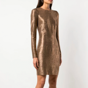 METALLIC DRESS ZAC POSEN