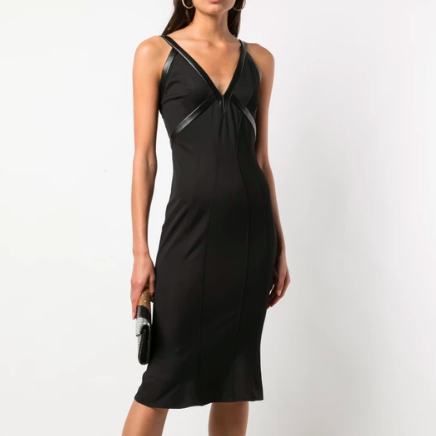 BLACK DRESS ZAC POSEN