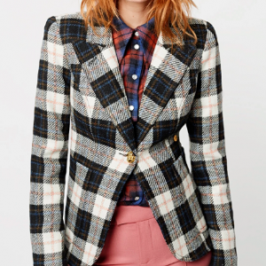 WOOL PLAID BLAZER