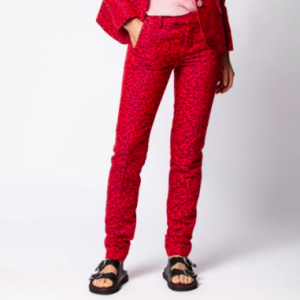 RED LEOPARD PANTS
