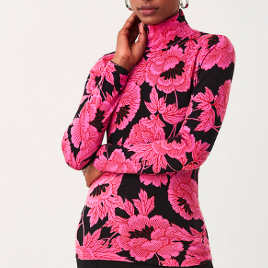 FLORAL MERINO WOOL SWEATER DVF