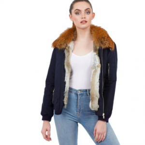 FOX COLLAR BOMBER JACKET
