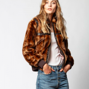 ZADIG AND VOLTAIRE FUR AND LEATHER JACKET
