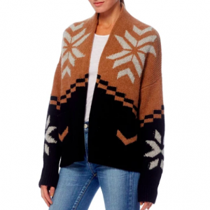 PATTERNED CASHMERE CARDIGAN
