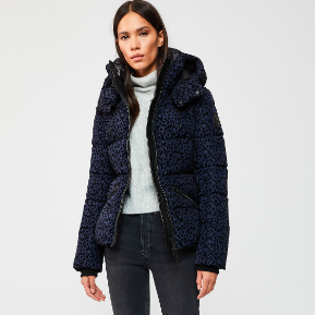 LEOPARD PRINT PUFFY DOWN COAT MACKAGE